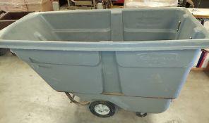 Rubbermaid 1314 Utility Cart on Wheels, Capacity 1 Cubic Yard