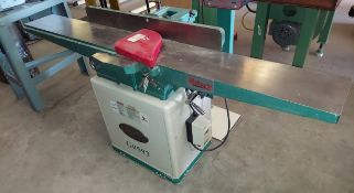 """Grizzly 8"""" Wood Jointer, Model #G0593, Spiral Cutter Head, Motor is 2 HP 110/220 Volt 1ph"""