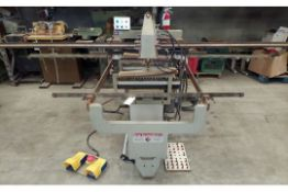Lino Busellato Dowel Boring Machine, 2 - Drill Units From Bottom, 1 Drill Unit From The Face Side,