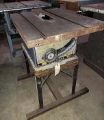 """Sear's Craftman 10"""" Contractors Table Saw, No Motor"""