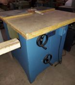 Larick Machinery Tilting Arbor Brush Sander, Model #360V, Motor is 1 HP 115/230 Volt 1ph