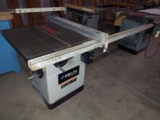 """Delta Industrial 10"""" Cabinet Table Saw, Model #36-729, T-Square Fence & 51"""" Rail, Motor is 15 Amp"""