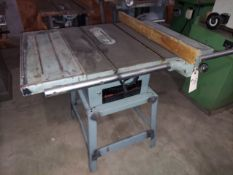 """Delta 10"""" Contractor Table Saw, Model #34-444, 25"""" Rails & Fence, Motor is 1.5 HP 115/230 Volt 1ph"""