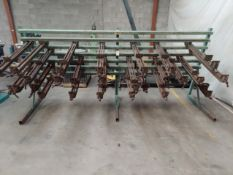"""James L. Taylor 12' Panel Clamp, Model #79A, Comes with 29 Clamps, 16 - 32"""" Clamps & 13"""" 40"""" Clamps"""