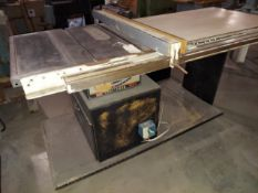 """Sears Craftsman 10"""" Contractors Table Saw, Biesemeyer 53"""" Rail & Fence System, Motor is 2 HP 115/230"""