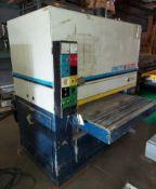 """AEM / SCMI 43"""" Double Head Wide Belt Sander, Model #CL-110 Floating Bed, #1 Motor is 36 HP #2"""