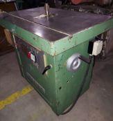 """Wakin Burgreen 1-1/4"""" Wood Shaper, Model #Bel84192, Motor is 9 HP 208-220/440 Volt 3 ph"""