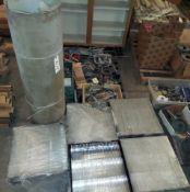 """10 - Plastic Cases, 18"""" x 18"""" x 4"""", Roll of Plastic Laminate"""