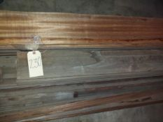 Lot of African Mahogany Molding, Up to 17' Long