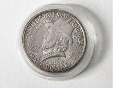 1/2 Dollar USA. 1937. North Carolina. The Colonialization of Roanoke Island. 1587-1937.