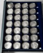 28 x 1 Dollar USA 2004-2017, different editions, brilliant uncirculated