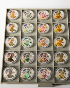5x 1 OZ . Fine Silver-One Dollar Eagle. 4 seasons. (2008-2012)