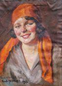 Rudolf Sternad (1880-1945), Portrait signed bottom left, oil on canvas. 52x42 cm