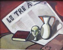 Italian Artist around 1930/40, style life , oil on panel, framed. 33x42 cm