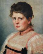 Arthur Kurtz (1860-1917), Portrait , oil on canvas, signed. 43x34 cm
