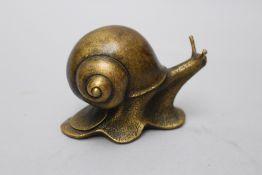 Bronze Slug, China 20 th Century. 12x9 cm