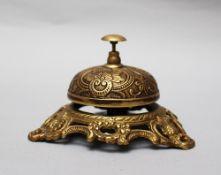 Reception bell , bronze 20 th Century. 8 cm height