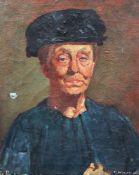 Flanagan dated 1925 portrait, oil on canvas. 51x41 cm