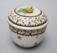 Vienna porcelain bowl painted on white ground glazed around 1800. 11 cm height