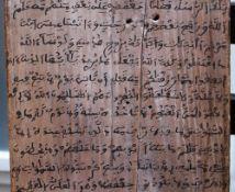 Islamic panel, wood 19 th Century. 40x27 cm