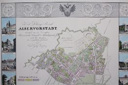 Vienna map of the 9 th district , printed on paper. 71x90 cm