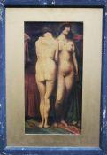 Artist early 20 th Century, Female nudes, oil on canvas, framed. 44x22 cm