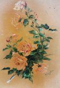 Fritz Weidinger 1909 , flowers , watercolour on paper. 55x47 cm