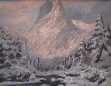 Laszlo Neogrady ( 1896-1962 ) winter landscape , oil on canvas , signed framed. 40x49 cm