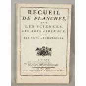 Recueil des planches, Les sciences les Arts liberaux