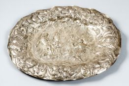 Large Augsburg silver plate