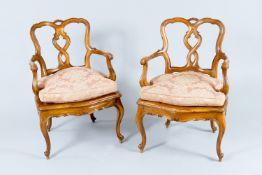 Pair Baroque Armchairs