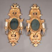 Pair of Genoese mirrors