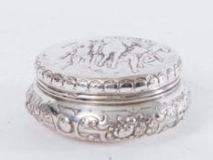 Samuel Boyce Landek, Sheffield, Inghilterra, 1898 (argento importato, Hanau). Scatola in argento