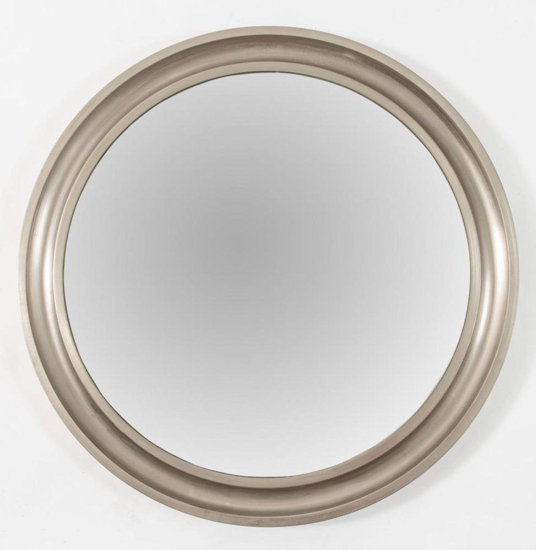 SERGIO MAZZA Specchio da parete in metallo. Prod. Artemide, Italia, 1970 ca. Cm 62x62x3,5.
