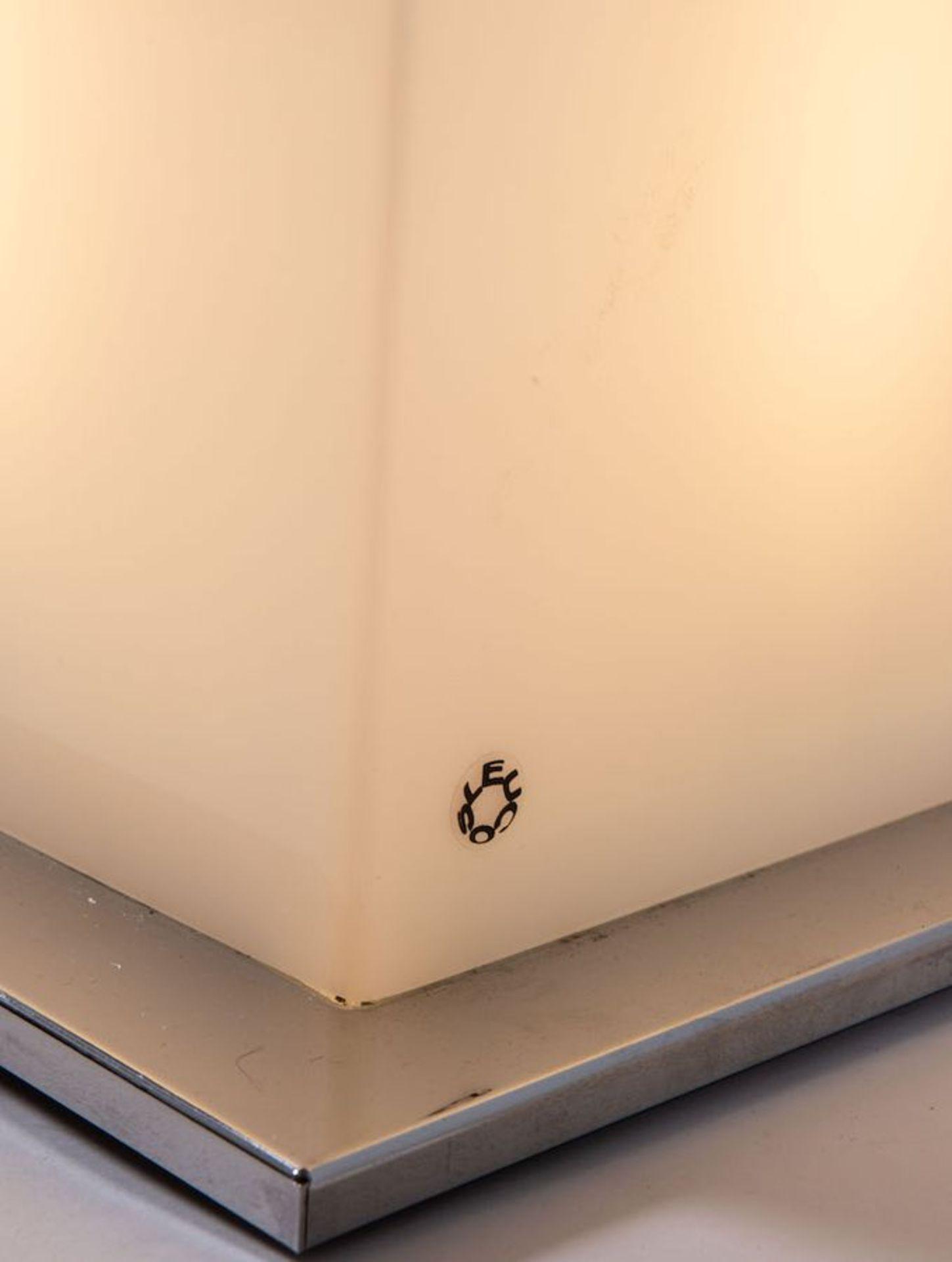 DANILO DE ROSSI Lampada da terra in vetro soffiato con foglie e germoglio in vetro modellato e soffi - Image 4 of 6