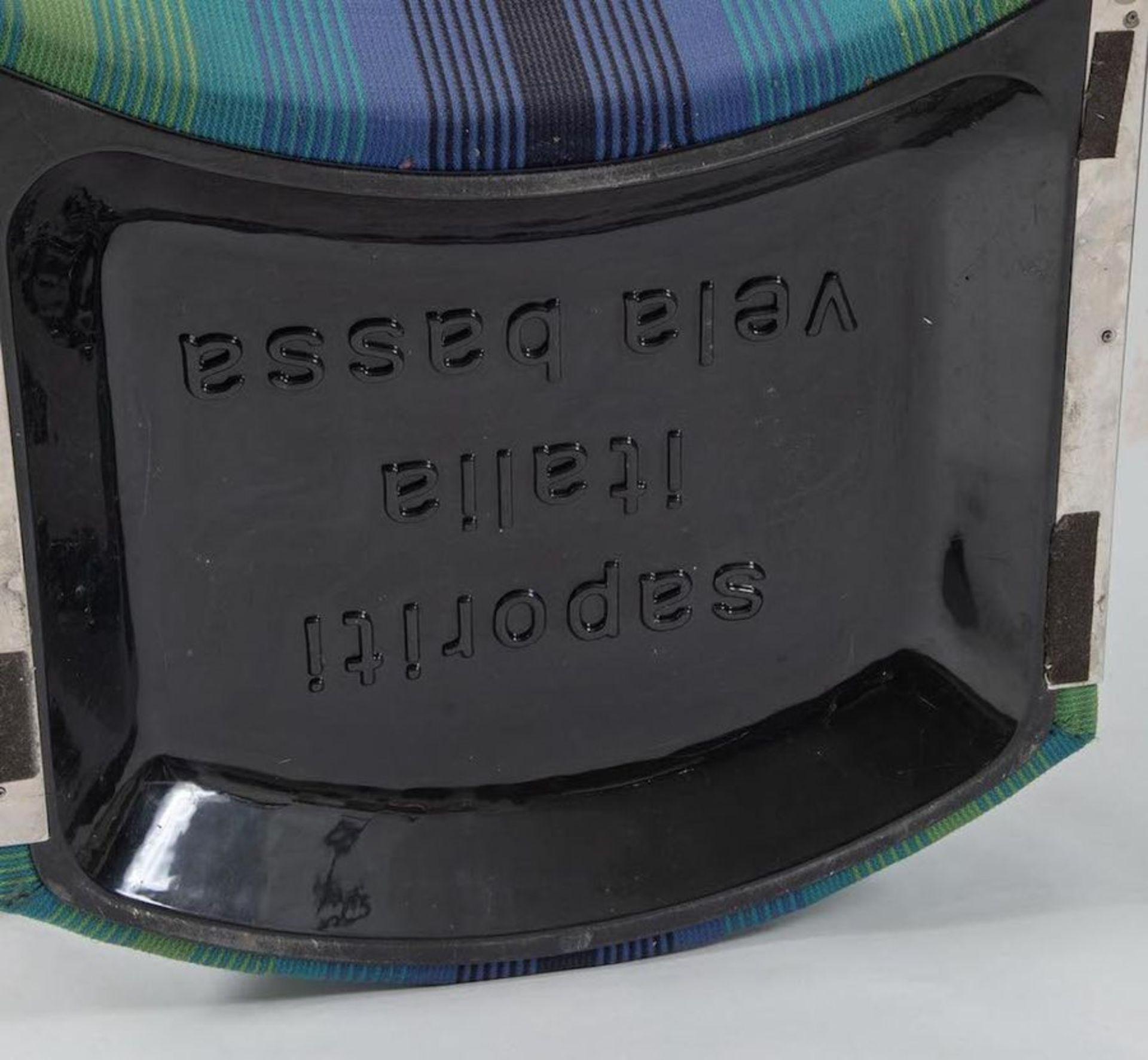 GIOVANNI OFFREDI Coppia di poltrone in tessuto Missoni modello Vela Bassa. Marchio Originale. Prod.  - Bild 5 aus 5