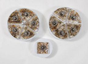 LA MURRINA Tre lampade da soffitto o muro in vetro soffiato con struttura in metallo. Prod. La Murri