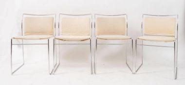 KAZUHIDE TAKAHAMA Otto sedie in metallo e tessuto modello Tulu. Prod. Simon Gavina Ultramobile, Ital