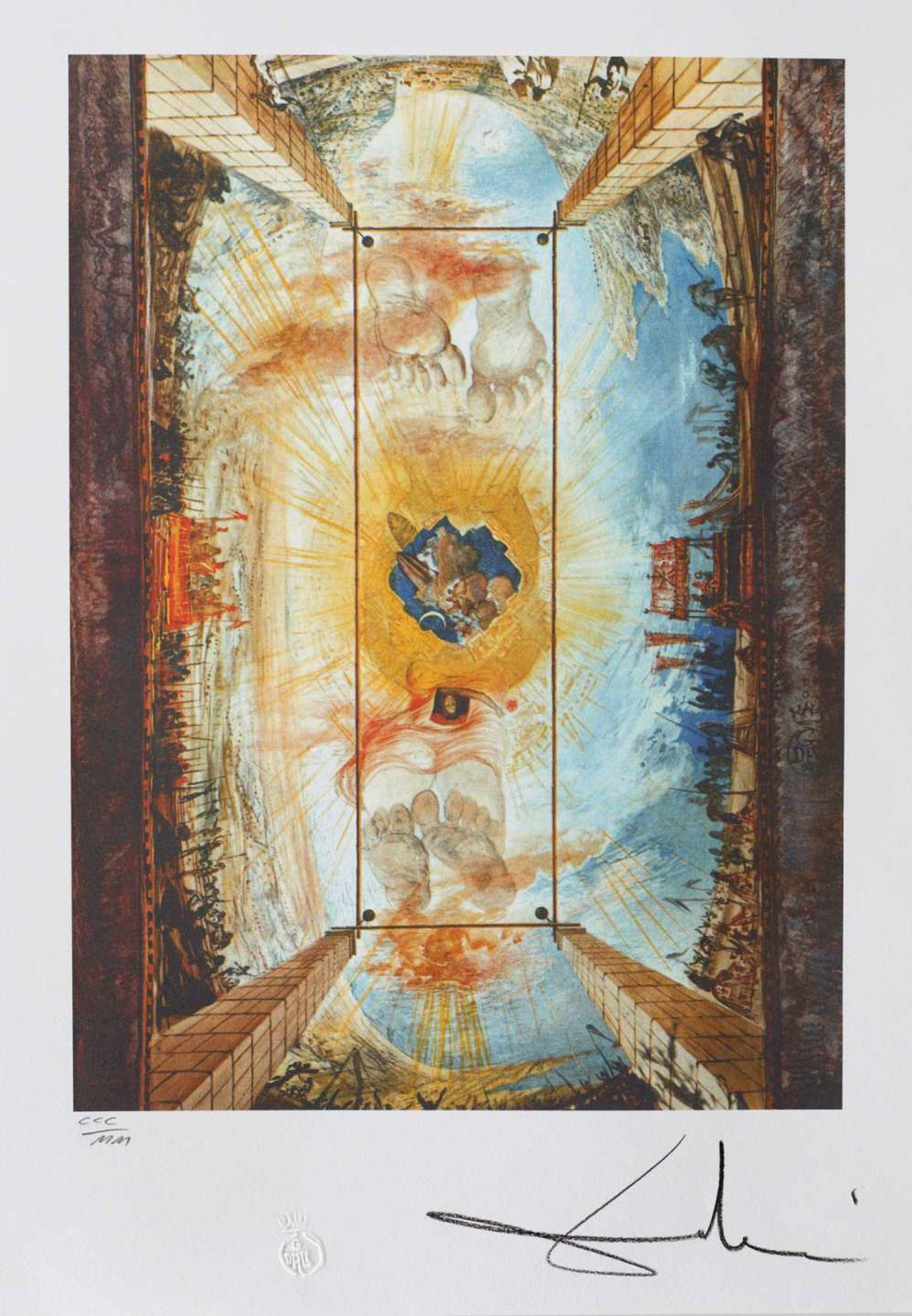 Salvador Dali, The Dalinian TriangleSalvador Dali, The Dalinian Triangle, chromolithography, 45