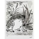 Pablo Picasso, The ToadPablo Picasso, The Toad, chromolithography, 37,5 × 29 cm, signed bottom