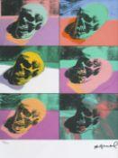 Andy Warhol, SkullAndy Warhol, Skull, chromolithography, 40 × 33,5 cm, signed bottom right, un