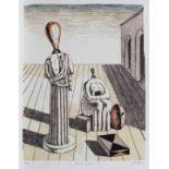Giorgio de Chirico, The Worried MuseGiorgio de Chirico, The Worried Muse, chromolithography, 57