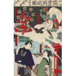 Toyohara Kunichika, God of Wind and God of ThunderToyohara Kunichika, God of Wind and God of Th