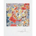 Salvador Dali, Spanish GuitarsSalvador Dali, Spanish Guitars, chromolithography, 33,5 × 33,5 c