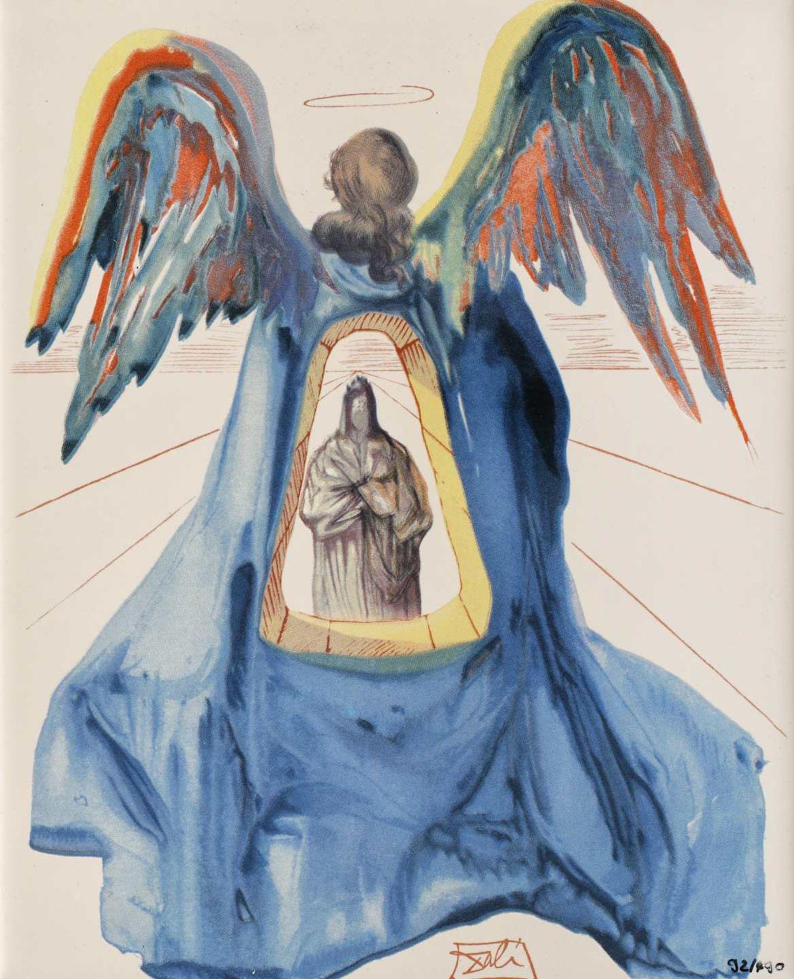 Salvador Dali, Dante PurifiedSalvador Dali, Dante Purified, screen printing on ceramic, 25 × 2