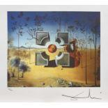 Salvador Dali, CubeSalvador Dali, Cube, chromolithography, 35 × 42,5 cm, signed bottom right,