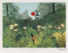 Henri Rousseau, Virgin ForestHenri Rousseau, Virgin Forest, chromolithography, 45 × 62,5 cm, s