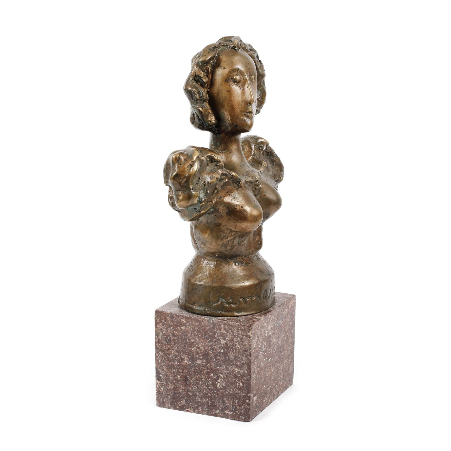 "Ion Irimescu, MuseIon Irimescu, Muse, bronze, 27 × 10 × 22 cm, signed at the base, ""irimescu - Bild 2 aus 3"
