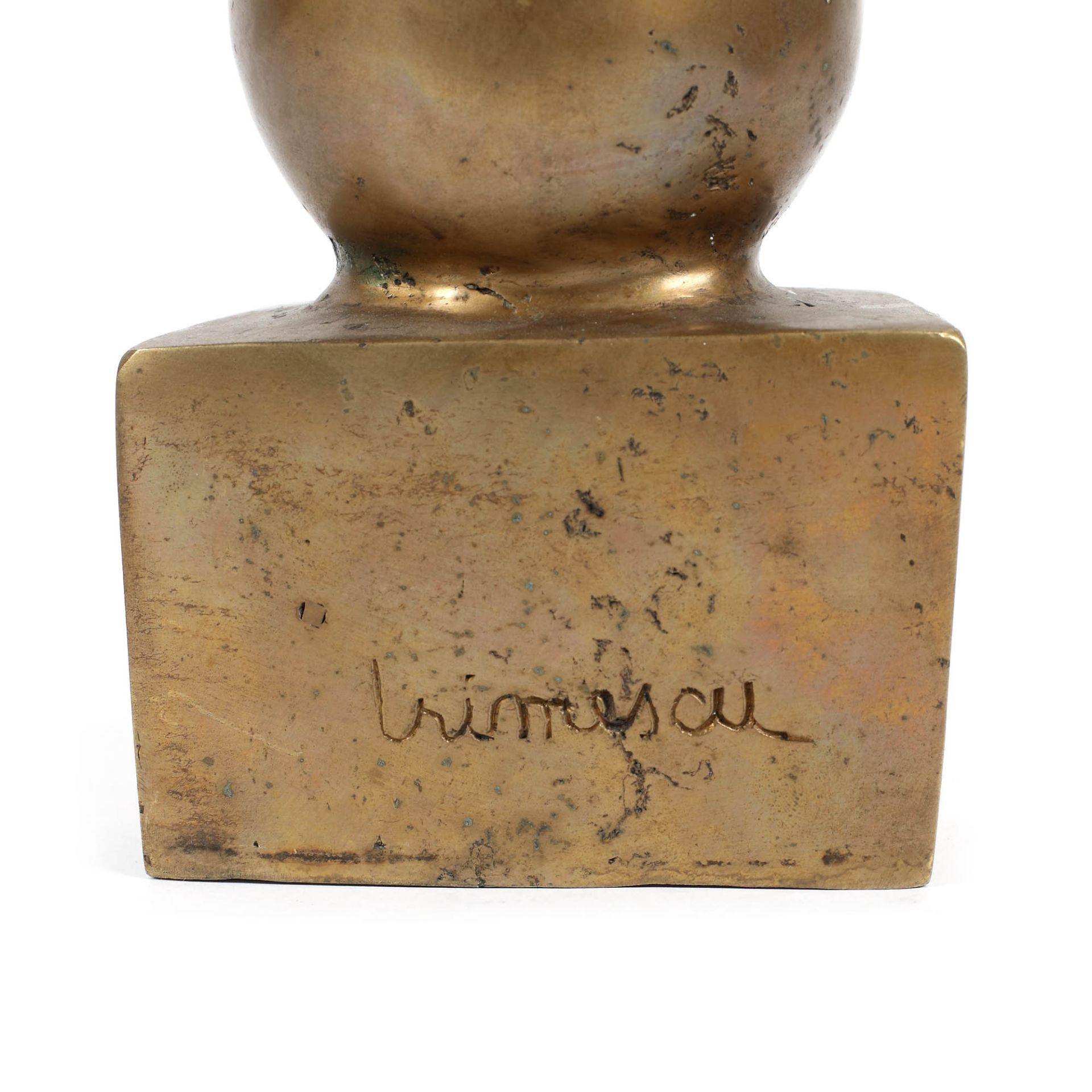 Ion Irimescu, MosesIon Irimescu, Moses, bronze, 35 × 7 × 8 cm, signed on the reverse, at the - Bild 4 aus 4
