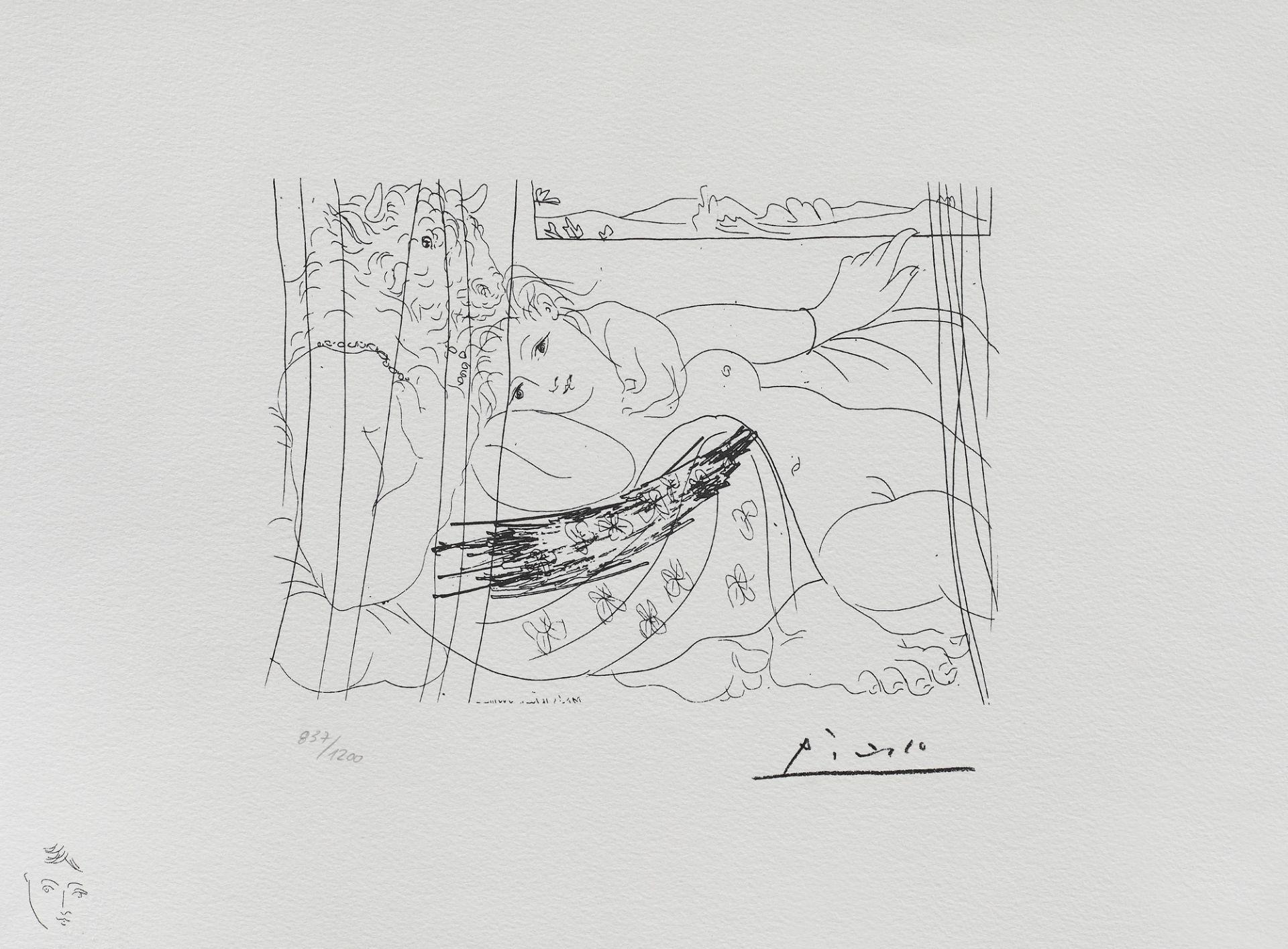 Pablo Picasso, MinotaurPablo Picasso, Minotaur, lithography, 16 × 22 cm, signed, engraved, bot